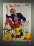 1990 Sugar Free Fudgsicle Ad - Big Taste. No Waist.