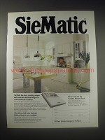 1990 SieMatic Kitchen Cabinets Ad - creating unique and innovative
