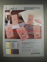 1990 Lutron Lumea Lighting Controls and Accessories Ad - Distinctive