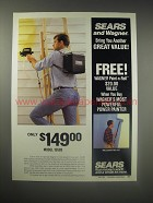 1990 Sears Wagner Model 15593 Power Painter Ad
