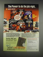 1990 Black & Decker Home Improvement Library Ad - The power to do the job right