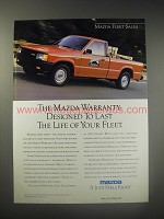 1990 Mazda Pickup Trucks Ad - The mazda warranty: Designed to last the life