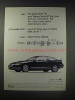 1990 Eagle Talon Tsi Car Ad - Man: This Eagle Talon Tsi and Toyota Celica