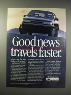 1990 Hyundai Sonata Ad - Good news travels faster
