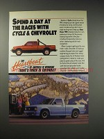 1990 Chevrolet S-10 Pickup Trucks Ad - Spend a day at the races with Cycle