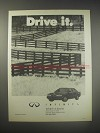 1990 Infiniti Car Ad - Drive it