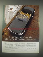1990 Jaguar XJ-S Convertible Ad - A place in the sun