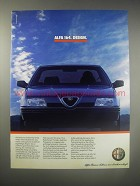 1990 Alfa Romeo 164 Car Ad (in German) - Alfa 164. Design.