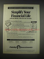 1990 Fidelity Investments Ad - Simplify your financial life with the Fidelity