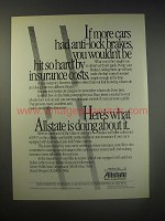1990 Allstate Insurance Ad - If more cars had anti-lock brakes