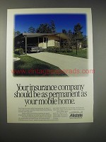 1990 Allstate Insurance Ad - Your insurance company should be as permanent