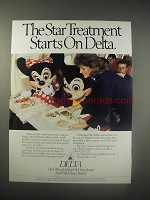 1990 Delta Airlines Ad - The star treatment starts on Delta