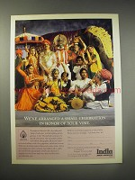 1990 Air India Ad - We've arranged a small celebration in honor of your visit