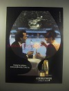 1990 Courvoisier Cognac Ad - During the holidays, some people enjoy it over ice