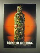 1990 Absolut Vodka Ad - Absolut Holiday
