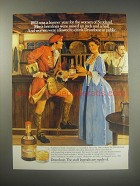 1990 Drambuie Liqueur Ad - 1803 was a banner year for the women of Scotland.