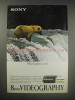 1990 Sony 8mm Handycam Traveller Video Camcorder Ad - What happens next?