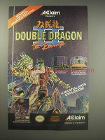 1990 Acclaim Double Dragon II The Revenge Video Game Ad