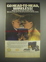1990 Acclaim Double Player System Ad - Go head-to-head, wireless