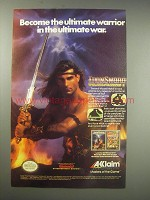 1990 Acclaim Video Games Ad - IronSword, Wizards & Warriors II