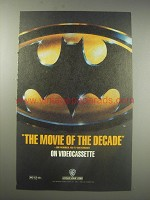 1990 Batman Movie Ad - The movie of the decade