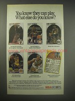 1990 NBA Hoops Basketball Cards Ad - You know they can play.