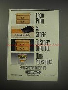1990 Minwax Polyshades Ad - From plain & simple to simply beautiful