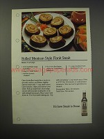 1990 A.1. Steak Sauce Ad - Rolled Mexican Style Flank Steak