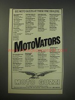 1990 Moto Guzzi Motorcycles Ad - See Moto Guzzis at these fine dealers
