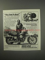 1990 Mikuni Racing Carburetors Ad - You bet it duz! Roger Ramjett Chatelet