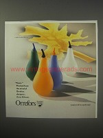 1990 Orrefors Ad - Pears by Anne Nilsson Plucked from the mind of Orrefors