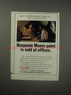 1990 Benjamin Moore Paint Ad - Benjamin Moore paint is sold at offices