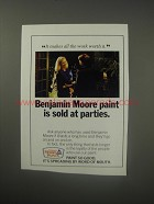 1990 Benjamin Moore Paint Ad - Benjamin Moore paint is sold at parties