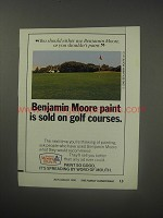 1990 Benjamin Moore Paint Ad - Benjamin Moore paint is sold on golf courses