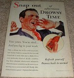 1933 Coke Coca-Cola Ad, Snap Out of Afternoon Drowsy!!