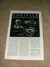 1931 Chrysler Straight Eight Car Ad, Great Strength!!