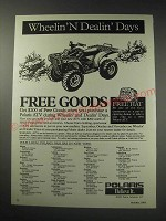 1991 Polaris ATV Ad - Wheelin'N Dealin' Days