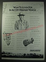 1991 U.S. Forest Service Ad - What to look for in an off-highway vehicle