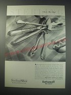 1991 Fortunoff Sterling Silverware Ad - Mignonette, Eic, Silver Sculpture, DŽcor