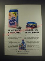 1991 Downy Refill Ad - Put a little more in your pocket