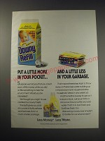 1991 Downy Refill Ad - a little less in your garbage