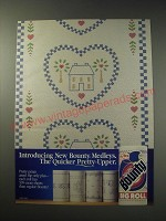 1991 Bounty Medleys Paper Towels Ad - The Quicker Pretty-Upper