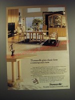 1991 Thomasville Fascination Collection Furniture Ad