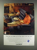 1991 La-Z-Boy Sofa Ad - Clever how we've hidde two La-Z-Boy recliners