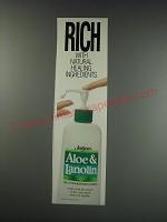 1991 Jergens Aloe & Lanolin Lotion Ad - Rich with natural healing ingredients