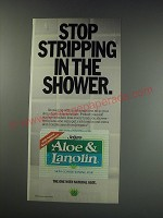 1991 Jergens Aloe & Lanolin Skin Conditioning Bar Ad - Stop stripping