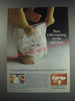 1991 Huggies Pull-ups Ad - Star toilet training on the right foot