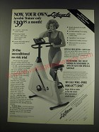 1991 Life Fitness Lifecycle Aerobic Trainer Ad