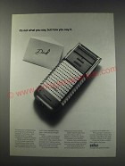 1991 Braun Shaver Ad - It's not what you say, but how you say it