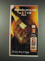 1991 A.1. Steak Sauce Ad - Marinades are as easy as 1.-2-3!